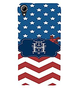 EPICCASE Letter H Mobile Back Case Cover For HTC Desire 828 (Designer Case)