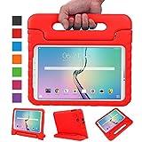 NEWSTYLE Samsung Galaxy Tab E 9.6 Zoll Hülle Eva Stoßfeste Schutzhülle Tragbar für Kinder mit Ständer Schutzhülle Standfunktion für Samsung Tab E SM-T560/SM-T561 9.6 Zoll Tablet,- Rot