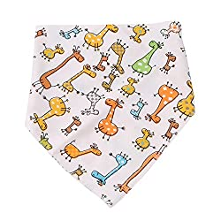 Ejy Baby Dribble Bibs Bandana Baby Bibs Super Absorbent Cotton Baby Shower Gift For Newborns Girls Boys Infants Toddlers (Giraffe)