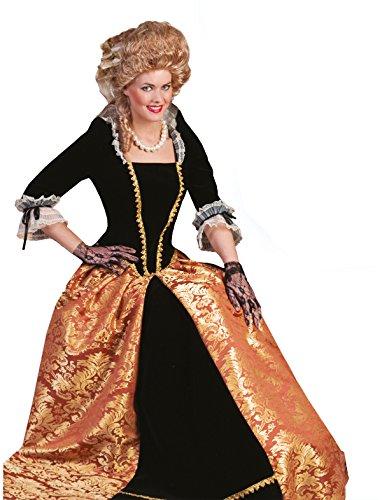 Kostüm Madame Kristina Damen Größe 48/50 Rokoko Barock Gräfin Kleid gold bronze Renaissance Adel Karneval Fasching (Renaissance Kleid)