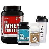 #9: Medisys Lean Muscle Combo Whey Protein - Café Mocha -1kg +Fat Burner [Free Multivitamin & Shaker]