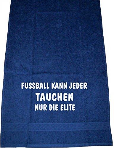 Fußball kann jeder, Tauchen nur die Elite; Sport Handtuch, dunkelblau (Tauchen Meer Elite)