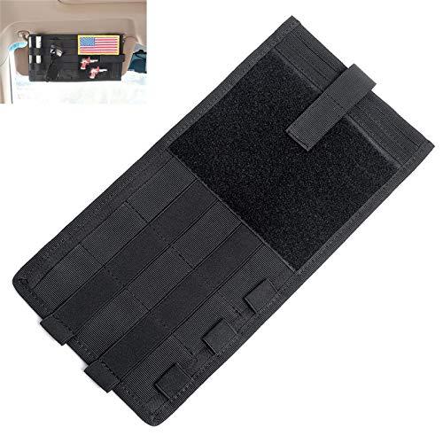 HWZ Tactical Car Accessories Visor Card Storage Sun Visor Organizer Bag Card Storage Glasses Holder Clip Visor Storage Holder