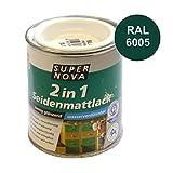 Acryl Seidenmattlack 125ml moosgrün RAL6005 samtig glänzend innen außen Holzlack