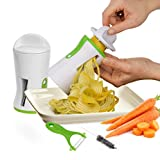 OVOS Vegetable Spiral Slicer Zucchini Pasta Noodle Spaghetti Maker with Ceramic Peeler