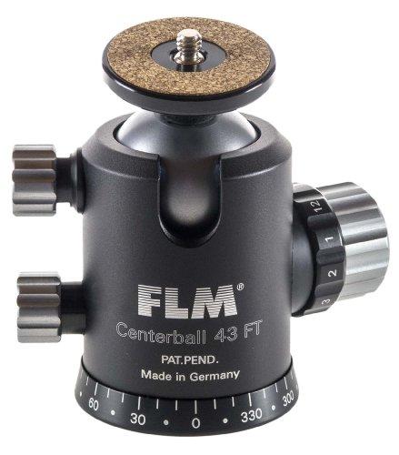 FLM Centerball CB-43 FT Mark II Profi-Kugelkopf mit Friktion, 2-Wege-Funktion, Panoramaboden (30 kg) Stativkopf mit Aufnahmeteller