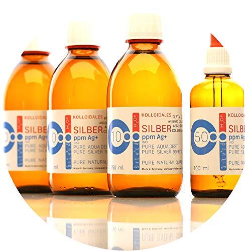 850ml Plata coloidal PureSilverH2O / 3 x Botellas (cada 250ml/10ppm) Plata coloidal + pipeta botella (100ml/50ppm) - 99,99% de plata pura - la mejor calidad - Made in Germany preisvergleich