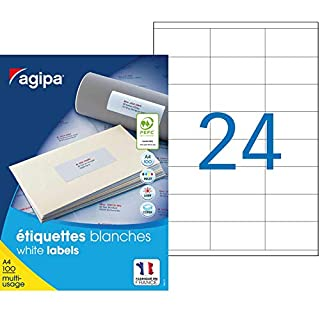 agipa 119006 Universal-Etiketten, 70 x 35 mm, weiß, rechteckig