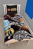 Lego Star Wars Kinder und Jungen Bettwäsche 2 tlg. 80x80 + 135x200 cm aus 100 % Baumwolle