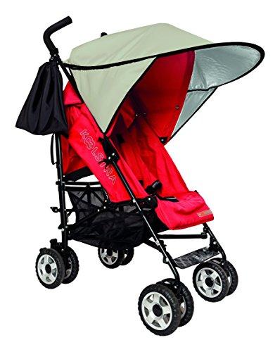 sunnybaby 11140 - Universal Sonnendach/Sonnenschutz FLEXI XXL für Sportwagen, Buggy & Kinderwagen | höchster UV Schutz UPF 50+ | inkl. Transporttasche - Farbe: NATUR | Qualität: MADE in GERMANY