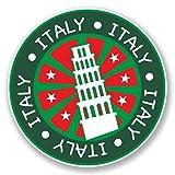 2 x 30cm/300 mm Pise Italie Autocollant de fenêtre en verre Voiture Van Locations #6706