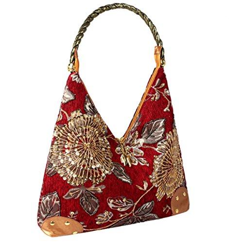 Nationalen Stil Abend Handtasche Art Und Weise Der Mutter Damentaschen Red
