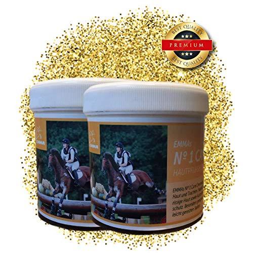 EMMA ♥ Zinksalbe für Pferd & Hunde I Sparset I Zinkpaste bei Hautreizung, Juckreiz, Ekzem & bei Pferde Mauke I Maukesalbe 2x250ml -