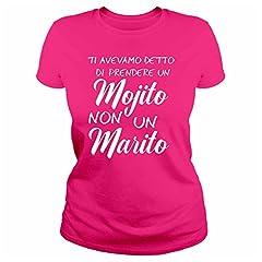 Idea Regalo - IDEAMAGLIETTA AN0002 Maglietta Addio al Nubilato (M, Fuxia)