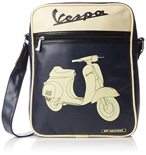 vespa-schultertasche-dunkelblau-mit-beigem-aufdruck-roller-vespa-v50-special-26x33x9cm-