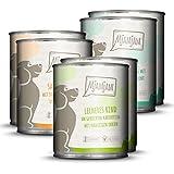 Hunde Nassfutter: Mixpaket 1 Huhn/Ente, Rind, Pute 2x2x2 6er-Pack, hoher Fleischanteil