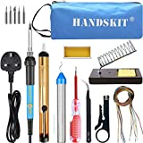 Best Tools & More Soldering Iron Tips - Soldering Iron Kit Electronics 60W 220V Adjustable Temperature Review