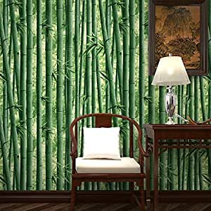 Jaamso Royals Light Green Bamboo Peel and Stick Self Adhesive Wallpaper ,Wall Sticker (200 cm *45 cm)