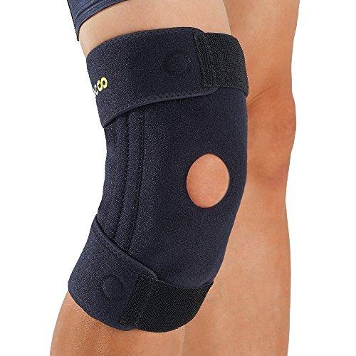 BRACOO SportsMed Kniebandage – Sportbandage – Knieschoner – Kniegelenkbandage | Kniestütze mit innovativer Silikon-Gel-Vibrationsdämpfung und flexiblen Seitenstabilisatoren