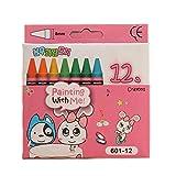 JER 1 juego de cera Lápices Niños Pintura Suministros lápices de cera seguras con rosa caja de 12 colores