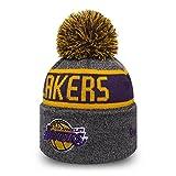 NBA Los Angeles Lakers Marl Bobble Knit - Grey/Yellow