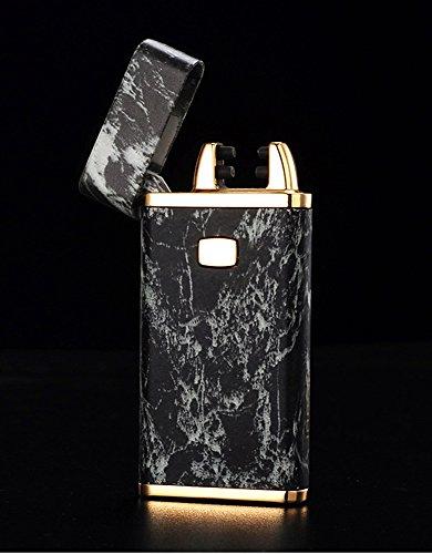 cjoy-usb-rechargeable-briquets-electroniques-marbre-effet-noir