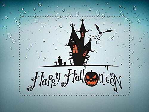 ant de la fête Deco Halloween Aufkleber Wandaufkleber Schloss manoir hante Auto ()