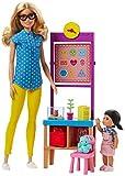 Barbie FJB29 Lehrerin Puppe (Blond) und Spielset
