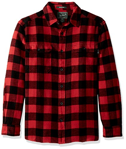 Woolrich Herren Oxbow Bend Flannel Shirt Button Down Hemd, schwarz/red, XX-Large