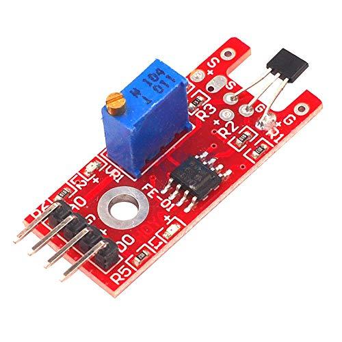 ILS - 5 Stück KY-024 4-Pin Linear Magnetschalter Counting Hall-Sensor-Modul für Arduino Drehzahl- -