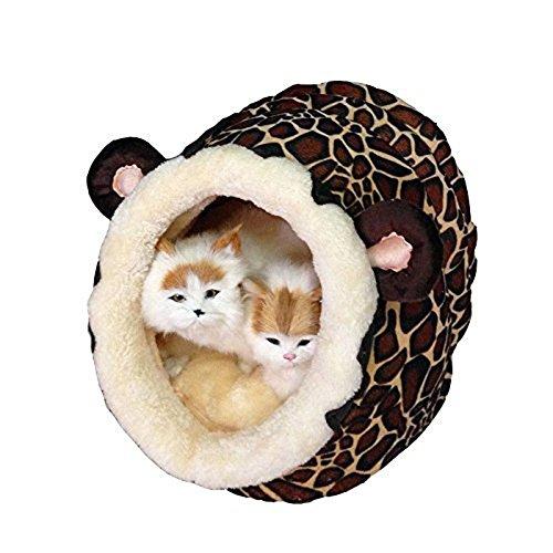 owikar Löwe Style Warm-Cat Dog House Cartoon Weiche Baumwolle gepolstert Plüsch-Apartment Höhle waschbar mit herausnehmbarem Kissen in PET Kennel Sofa Supply Puppy Kitty Teddy Rest Schlafsack Matte