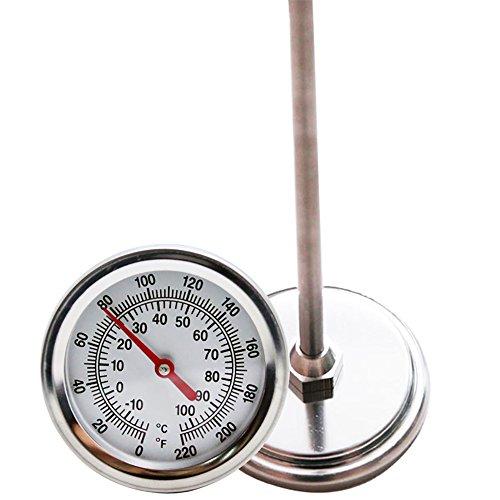 Mr Garden Kompost Thermometer, Edelstahl, Celsius und Fahrenheit Temperatur Zifferblatt, 50,8cm Stiel (Edelstahl-kompost-thermometer)