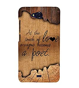 Touch Of Love Becomes A Poet 3D Hard Polycarbonate Designer Back Case Cover for Micromax Bolt Q335