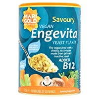 Marigold Engevita Nutritional Yeast Flakes, the vegan food with a cheesy, nutty taste made from primary inactive yeast without artificial additives or preservatives. Engevita yeast flakes are an essential part of many vegetarian vegan diets & a g...