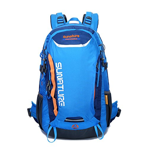 YYY-Una nuovo giorno all'aperto alpinismo sacchetto nuovo viaggio borsa a tracolla impermeabile sport zaino capacità 45L , green Blue