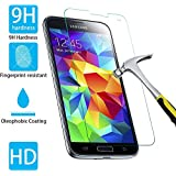 VEVOR Tempered Glass Screen Protector for Samsung S5 9H Anti-glare 0.3mm (Samsung Galaxy S5)