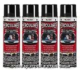 Beschichtungsfarbe 4 Spraydosen von HERCULINER in schwarz 4 x 440ml