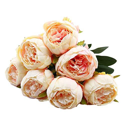 YWLINK Vintage KüNstliche Pfingstrosen-Seidenblumen Blumenstrauß Zur Dekoration Hochzeit Blumenstrauß Hydrangea Warm Speichern Cafe Dekoration KüNstliche Pflanze Party-Wohnkultur