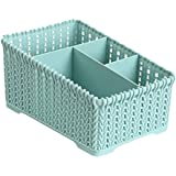 Iuhan Space Saving Desk Organizer Large Basket Desktop Storage Organizer Caddy Office Supplies Cosmetic Holder Box Countertop Home Kitchen Office Desk Sorter Sections As The Picture Shows Light Blue