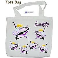 Texti-cadeaux-Tote Bags, agréable au toucher, motif Danseuse, à personnaliser…..