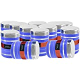 [Sponsored]King International Stainless Steel Food Storage Containers, Storage Box ,Blue Multipurpose Storage Box,Container Set Of 12 Pieces, 13 Cm, 1000 Ml