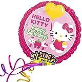 Folienballon SINGEND - HELLO KITTY GEBURTSTAG XXL 70cm, mit Helium gefüllter Luftballon zum Geburtstag + PORTOFREI + Geschenkkarte. High Quality Premium Ballons vom Luftballonprofi & deutschen Heliumballon Experten. Luftballon Geschenke zum Geburtstag und lustige Deko Geburtstag