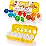 Tippi Color Matching Egg Set - Juguetes para niños pequeños - Educational Color & Number Recognition Habilidades de Aprendizaje de Juguetes