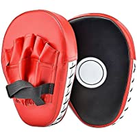 Punch Mitts - Cozyswan, Focus Mitts PU Leather Boxing Pads Target Mitt Glove for Focus Training of Karate