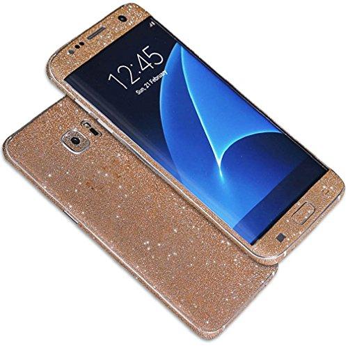 Produktbild Tonsee Luxus Bling Glitter zurück Film Tasche Schutzhülle Case für Samsung Galaxy S7 edge (Rose Gold)