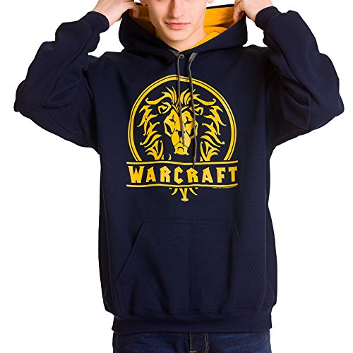 odie Kapuzen Pullover Alliance Logo blau gelb XXL (World Of Warcraft Hoodie)