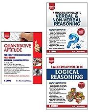 R S Agarwal - Quantitative Aptitude, Logic Reasoning & Verbal Reasoning (Set of 3 books)