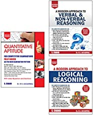 R S Agarwal - Quantitative Aptitude, Logic Reasoning & Verbal Reasoning (Set of 3 bo