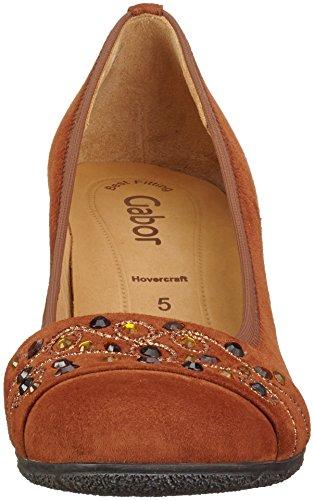 Gabor Shoes Basic, Scarpe con Tacco Donna Marrone (whisky 14)