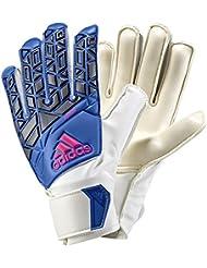 adidas portero guantes Ace Junior White/Blue, todo el año, niño, color blanco / azul, tamaño 5